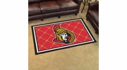 Fan Mats 10430  NHL - Ottawa Senators 4' x 6' Area Rug