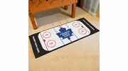 "Fan Mats 10446  NHL - Toronto Maple Leafs 30"" x 72"" Rink-Shaped Runner Rug"