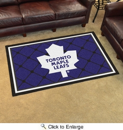Fan Mats 10447  NHL - Toronto Maple Leafs 4' x 6' Area Rug