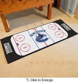 "Fan Mats 10455  NHL - Vancouver Canucks 30"" x 72"" Rink-Shaped Runner Rug"