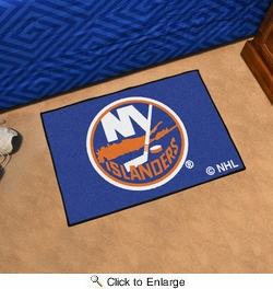 "Fan Mats 10458  NHL - New York Islanders 19"" x 30"" Starter Series Area Rug / Mat"