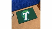 "Fan Mats 1046  Tulane University Green Wave 19"" x 30"" Starter Series Area Rug / Mat"