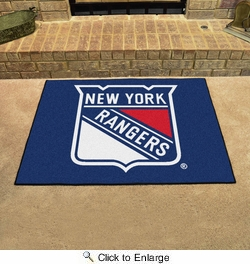 "Fan Mats 10470  NHL - New York Rangers 33.75"" x 42.5"" All-Star Series Area Rug / Mat"