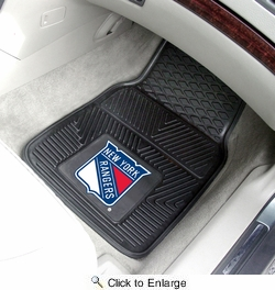 "Fan Mats 10474  NHL - New York Rangers 17"" x 27"" Heavy Duty Vinyl Car Mat Set"