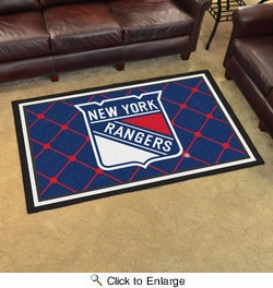Fan Mats 10477  NHL - New York Rangers 4' x 6' Area Rug