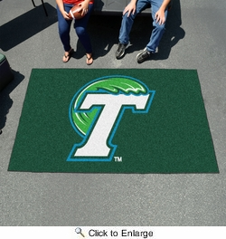 Fan Mats 1048  Tulane University Green Wave 5' x 8' Ulti-Mat Area Rug / Mat