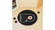 "Fan Mats 10484  NHL - Philadelphia Flyers 27"" Diameter Puck-Shaped Area Rug"