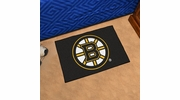 "Fan Mats 10491  NHL - Boston Bruins 19"" x 30"" Starter Series Area Rug / Mat"