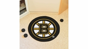 "Fan Mats 10495  NHL - Boston Bruins 27"" Diameter Puck-Shaped Area Rug"