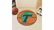 "Fan Mats 1050  Tulane University Green Wave 27"" Diameter Basketball Shaped Area Rug"