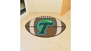 "Fan Mats 1052  Tulane University Green Wave 20.5"" x 32.5"" Football Shaped Area Rug"