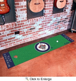 "Fan Mats 10520  NHL - Winnipeg Jets 18"" x 72"" Putting Green Mat"
