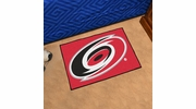 "Fan Mats 10524  NHL - Carolina Hurricanes 19"" x 30"" Starter Series Area Rug / Mat"