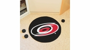 "Fan Mats 10528  NHL - Carolina Hurricanes 27"" Diameter Puck-Shaped Area Rug"