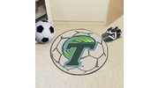 "Fan Mats 1053  Tulane University Green Wave 27"" Diameter Soccer Ball Shaped Area Rug"