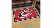 Fan Mats 10533  NHL - Carolina Hurricanes 4' x 6' Area Rug