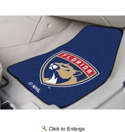 "Fan Mats 10540  NHL - Florida Panthers 17"" x 27"" Carpeted Car Mat Set"