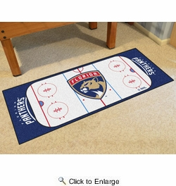 "Fan Mats 10543  NHL - Florida Panthers 30"" x 72"" Rink-Shaped Runner Rug"
