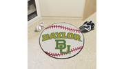 "Fan Mats 1056  Baylor University Bears 27"" Diameter Baseball Shaped Area Rug"