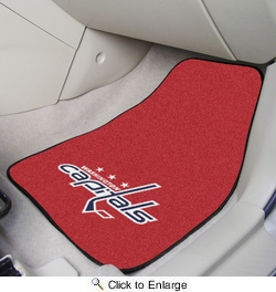 "Fan Mats 10562  NHL - Washington Capitals 17"" x 27"" Carpeted Car Mat Set"