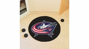 "Fan Mats 10572  NHL - Columbus Blue Jackets 27"" Diameter Puck-Shaped Area Rug"