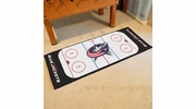 "Fan Mats 10576  NHL - Columbus Blue Jackets 30"" x 72"" Rink-Shaped Runner Rug"