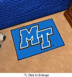 "Fan Mats 106  MTSU - Middle Tennessee State University Blue Raiders 19"" x 30"" Starter Series Area Rug / Mat"