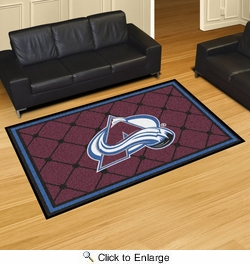 Fan Mats 10622  NHL - Colorado Avalanche 5' x 8' Area Rug