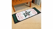 "Fan Mats 10642  NHL - Dallas Stars 30"" x 72"" Rink-Shaped Runner Rug"