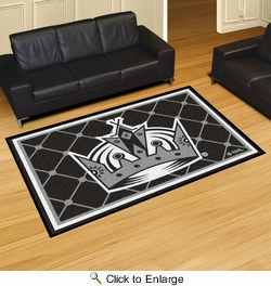 Fan Mats 10655  NHL - Los Angeles Kings 5' x 8' Area Rug