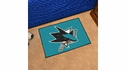 "Fan Mats 10667  NHL - San Jose Sharks 19"" x 30"" Starter Series Area Rug / Mat"