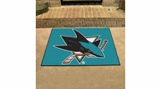 "Fan Mats 10668  NHL - San Jose Sharks 33.75"" x 42.5"" All-Star Series Area Rug / Mat"
