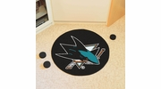 "Fan Mats 10671  NHL - San Jose Sharks 27"" Diameter Puck-Shaped Area Rug"