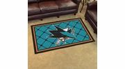 Fan Mats 10676  NHL - San Jose Sharks 4' x 6' Area Rug