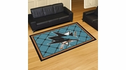 Fan Mats 10677  NHL - San Jose Sharks 5' x 8' Area Rug