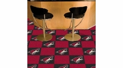 "Fan Mats 10679  NHL - Arizona Coyotes 18"" x 18"" Team Carpet Tiles (10 Logo, 10 Solid per Box - appx 45 sq ft)"