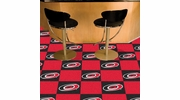 "Fan Mats 10691  NHL - Carolina Hurricanes 18"" x 18"" Team Carpet Tiles (10 Logo, 10 Solid per Box - appx 45 sq ft)"