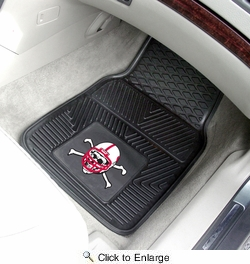 "Fan Mats 10716  NU - University of Nebraska Blackshirts 17"" x 27"" Heavy Duty Vinyl Car Mat Set"