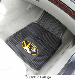 "Fan Mats 10717  UM - University of Missouri Tigers 17"" x 27"" Heavy Duty Vinyl Car Mat Set"