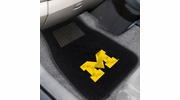 Fan Mats 10752  University of Michigan Wolverines 2-pc Embroidered Car Mat Set