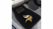 Fan Mats 10753  NFL - Minnesota Vikings 2-pc Embroidered Car Mat Set
