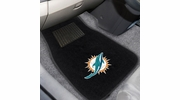 Fan Mats 10755  NFL - Miami Dolphins 2-pc Embroidered Car Mat Set