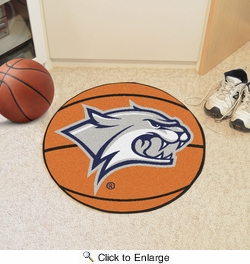 "Fan Mats 1097  UNH - University of New Hampshire Wildcats 27"" Diameter Basketball Shaped Area Rug"