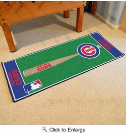 "Fan Mats 11071  MLB - Chicago Cubs 30"" x 72"" Baseball Runner Rug"