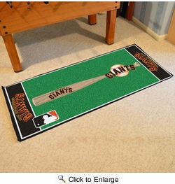 "Fan Mats 11090  MLB - San Francisco Giants 30"" x 72"" Baseball Runner Rug"