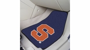 "Fan Mats 11287  Syracuse University Orange 17"" x 27"" 2-pc Carpet Car Mat Set"