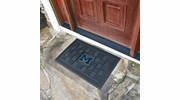 "Fan Mats 11365  UM - University of Michigan Wolverines 19.5"" x 31.25"" Medallion Vinyl Door Mat"