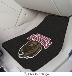 "Fan Mats 11782  UM - University of Montana Grizzlies 17"" x 27"" Carpeted Car Mat Set"