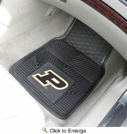 "Fan Mats 11783  Purdue University Boilermakers 17"" x 27"" Heavy Duty Vinyl Car Mat Set"