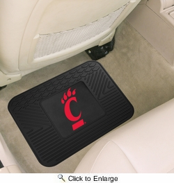 "Fan Mats 11809  UC - University of Cincinnati Bearcats 14"" x 17"" Vinyl Utility Mat (1 each)"